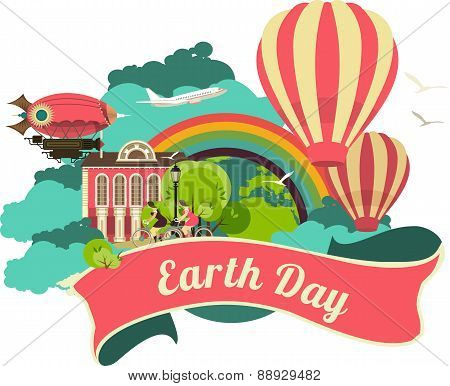 Earth Day Emblem