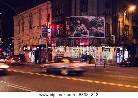 Bucharest, Romania - April 02: Divan Express Oriental Shop Near The Romana Square On April 02, 2015