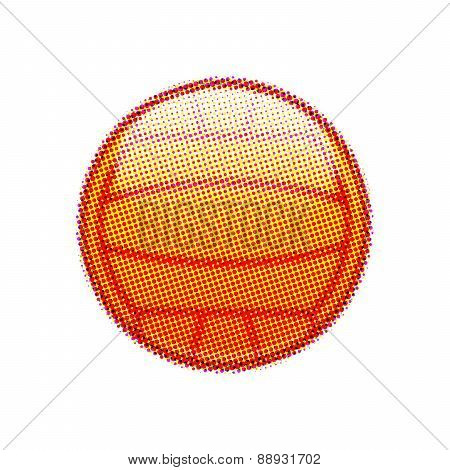Halftone sports ball