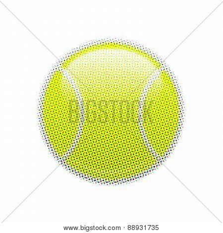 Halftone tennis ball