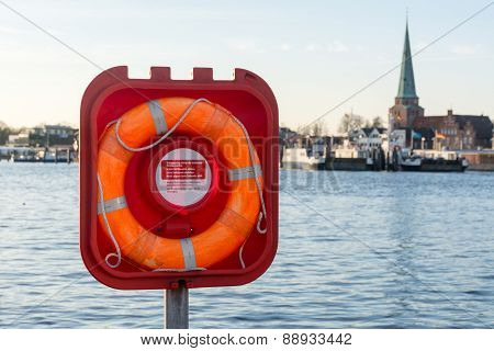 Live Buoy At The Ferry Port