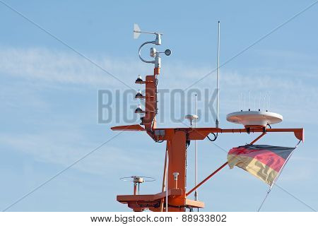 Navigation And Radar System On A Maritime Pilot Boat