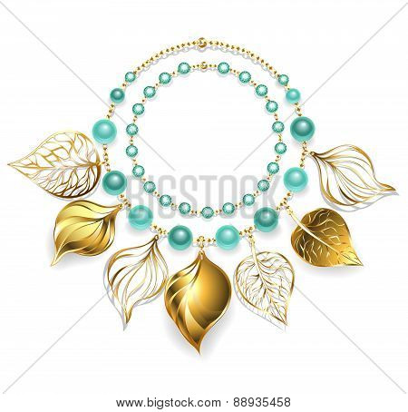 Necklace Of Golden Leaves