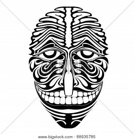 Spirit Demon Joker Face Silhouette