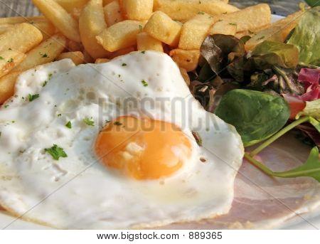 Eggs Ham  Chips