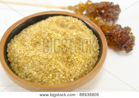 Brown Sugar In A Pot