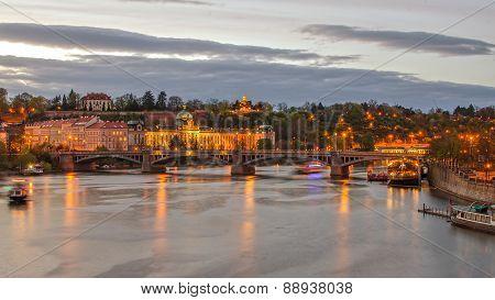 Prague (Czech Republic) and Vltava river