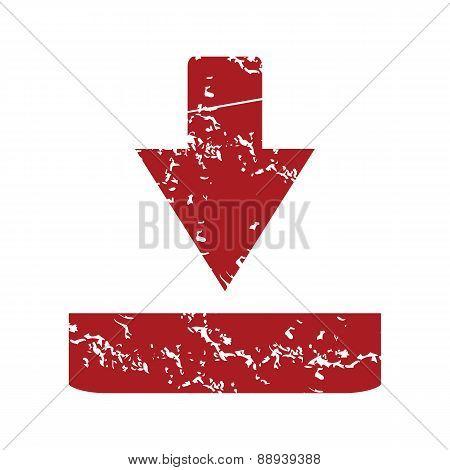 Red grunge download logo