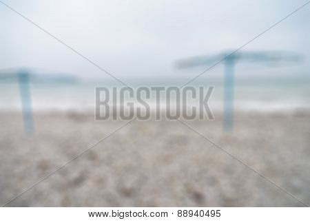 Empty beach at winter