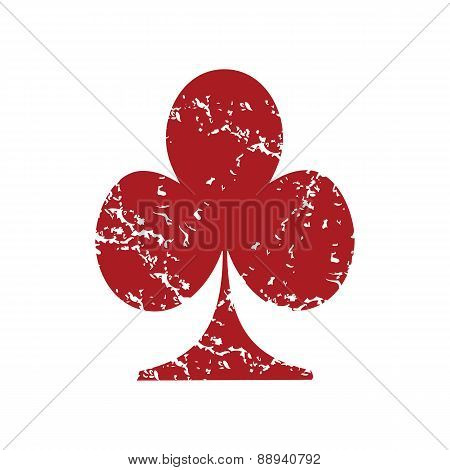 Red grunge card logo