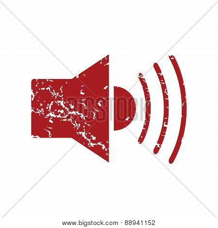 Red grunge add sound logo