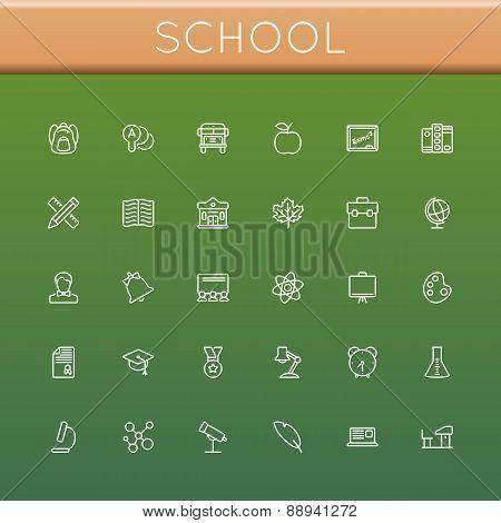 Vector School Line Icons