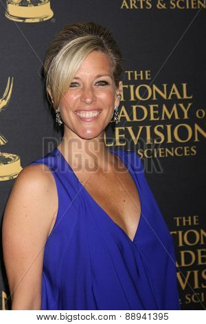 LOS ANGELES - FEB 24:  Laura Wright at the Daytime Emmy Creative Arts Awards 2015 at the Universal Hilton Hotel on April 24, 2015 in Los Angeles, CA