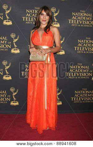 LOS ANGELES - FEB 24:  Elena Tovar at the Daytime Emmy Creative Arts Awards 2015 at the Universal Hilton Hotel on April 24, 2015 in Los Angeles, CA