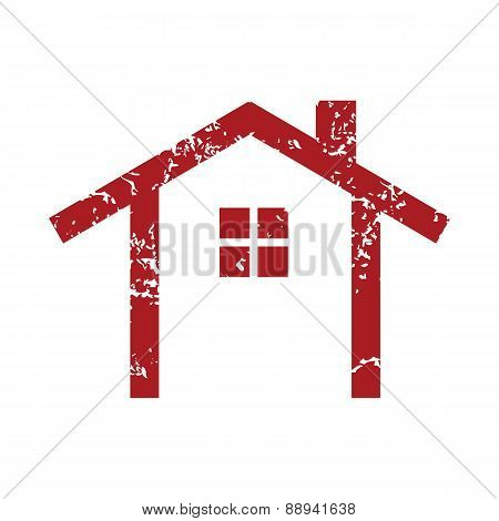 Red grunge building logo