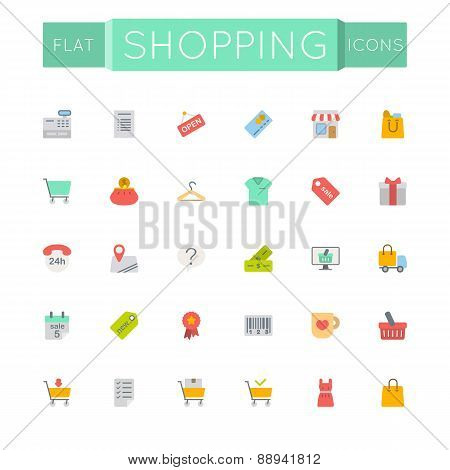 Vector Flat Shopping Icons