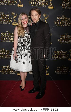 LOS ANGELES - FEB 24:  Sainty Nelsen, Eric Nelsen at the Daytime Emmy Creative Arts Awards 2015 at the Universal Hilton Hotel on April 24, 2015 in Los Angeles, CA