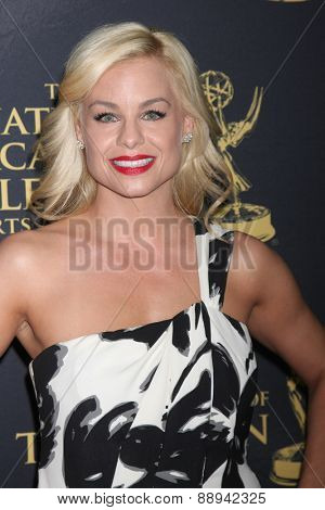 LOS ANGELES - FEB 24:  Jessica Collins at the Daytime Emmy Creative Arts Awards 2015 at the Universal Hilton Hotel on April 24, 2015 in Los Angeles, CA