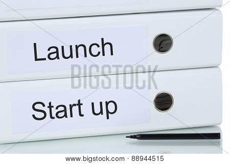 Launch Of A Start Up Business Company Concept