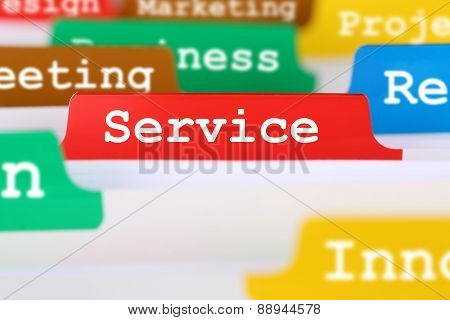 Service Quality Office Text On Register In Business Services Documents