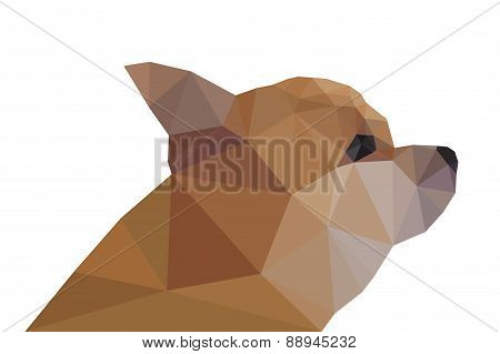 Side View of Chihuahua, geometric triangular