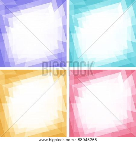 Set of Light Colorful Technology Frames