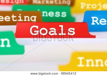 Goals Or Targets Business Concept Office Text On Register Documents