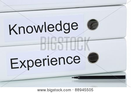 With Knowledge And Experience To Success Business Concept