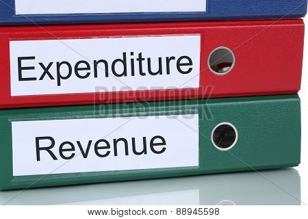 Revenue And Expenditure Account Finances In Company Business Concept