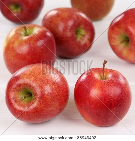 Apple Apples Fruits On A Wooden Board