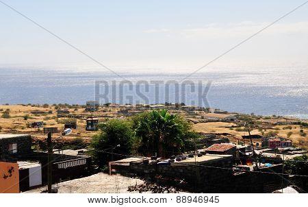 Plain Over Ocean