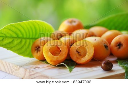 Loquat Medlar On On Table