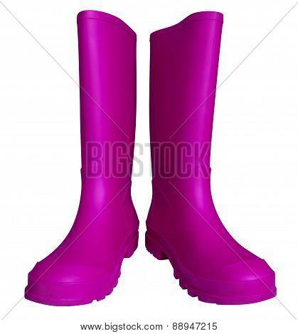 Rubber Boots - Violet
