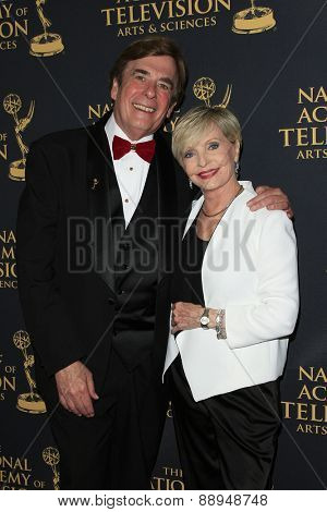 LOS ANGELES - APR 24: David Michaels, Florence Henderson at The 42nd Daytime Creative Arts Emmy Awards Gala at the Universal Hilton Hotel on April 24, 2015 in Los Angeles, California