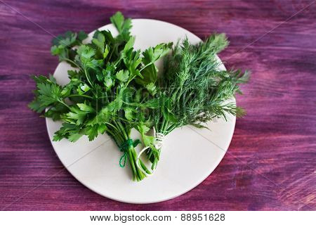 Two Bunch Of Dill And Parsley