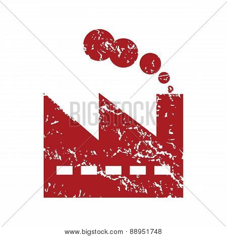 Red grunge factory logo