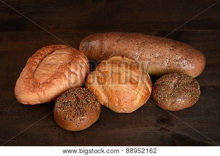 top view fresh bread