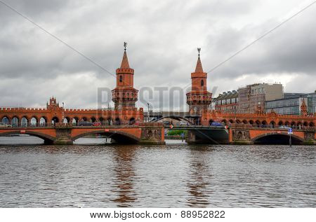 Oberbaum bridge in Berlin.