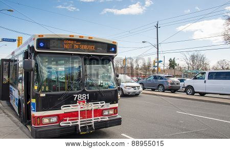 Ttc Out Of Service Bus Due To Traffic Jam