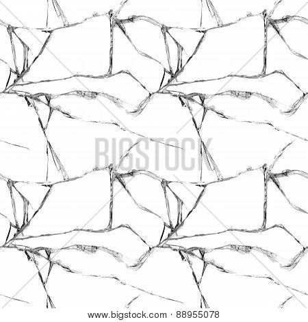 Realistic broken glass seamless pattern