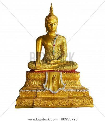 small golden bhuda