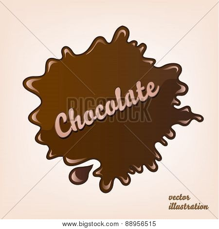 vector chocolate splash isolated