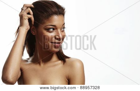 Beauty Black Woman With A Stright Hair