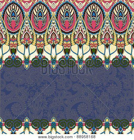 ornamental floral folkloric background for invitation