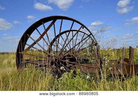 Steel wheels of machinery