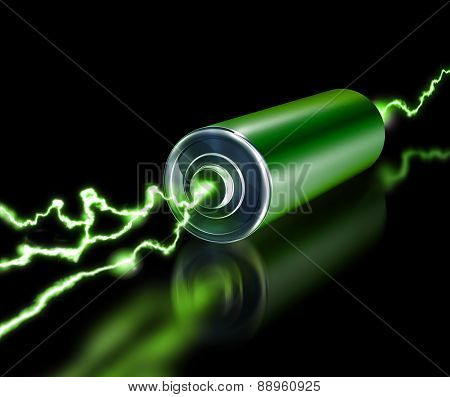 Green Energy Power Supply Battery Sparks