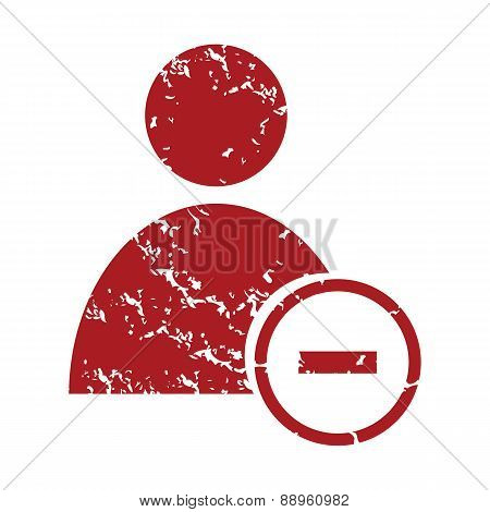 Red grunge remove user logo