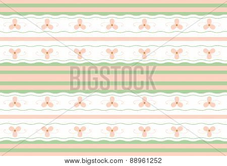 Gentle Floral Seamless Geometric Wallpaper Pattern