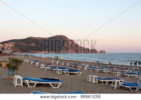Alanya - Late afternoon on Cleopatra Beach