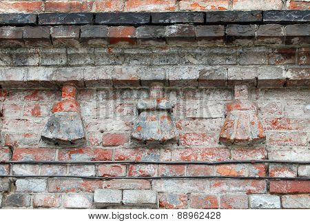 Fragment Of Old Brickwork